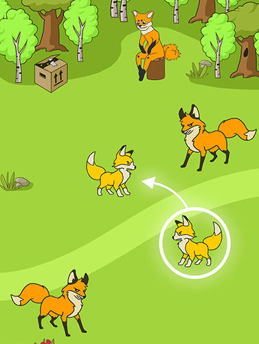 Angry fox evolution: Idle cute clicker tap game