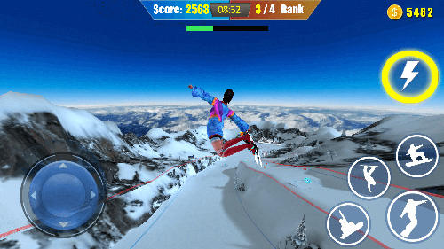 Snowboard freestyle skiing