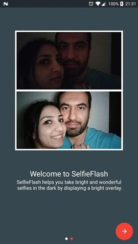 Selfie flash