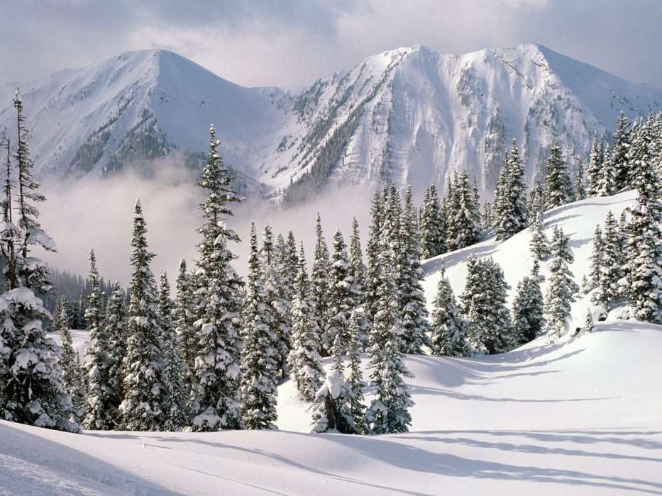 Mountains,Landscape,Nature,Snow,Winter