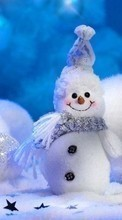 Background,Snowman,New Year,Holidays pour Samsung B5722