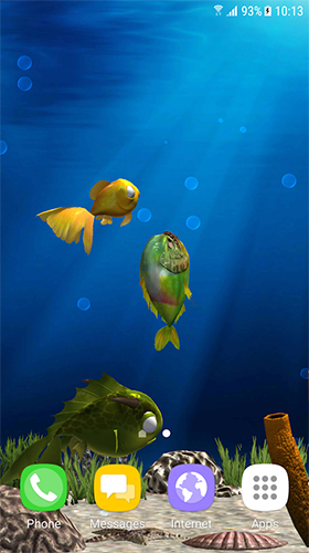 Aquarium fish 3D by BlackBird Wallpapers - télécharger gratuit un fond d'écran animé pour le portable.