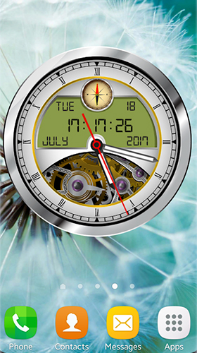 La capture d'écran Analog clock 3D pour le portable et la tablette.