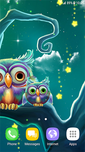 La capture d'écran Cute owls pour le portable et la tablette.