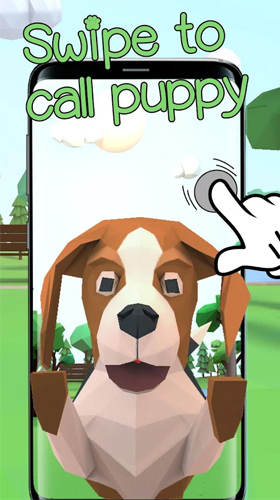 La capture d'écran Cute puppy 3D pour le portable et la tablette.