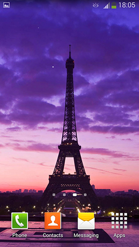 La capture d'écran Paris by Cute Live Wallpapers And Backgrounds pour le portable et la tablette.