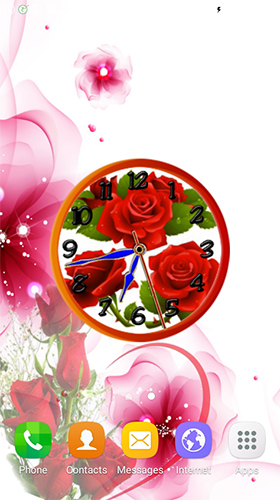 La capture d'écran Rose clock by Mobile Masti Zone pour le portable et la tablette.