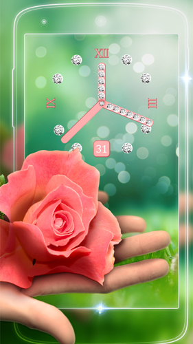 Rose picture clock by Webelinx Love Story Games