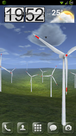 La capture d'écran Wind turbines 3D pour le portable et la tablette.